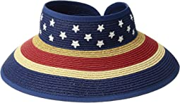 San Diego Hat Company Kids - Striped Roll Up w/ Painted Pattern (Little Kids/Big Kids)