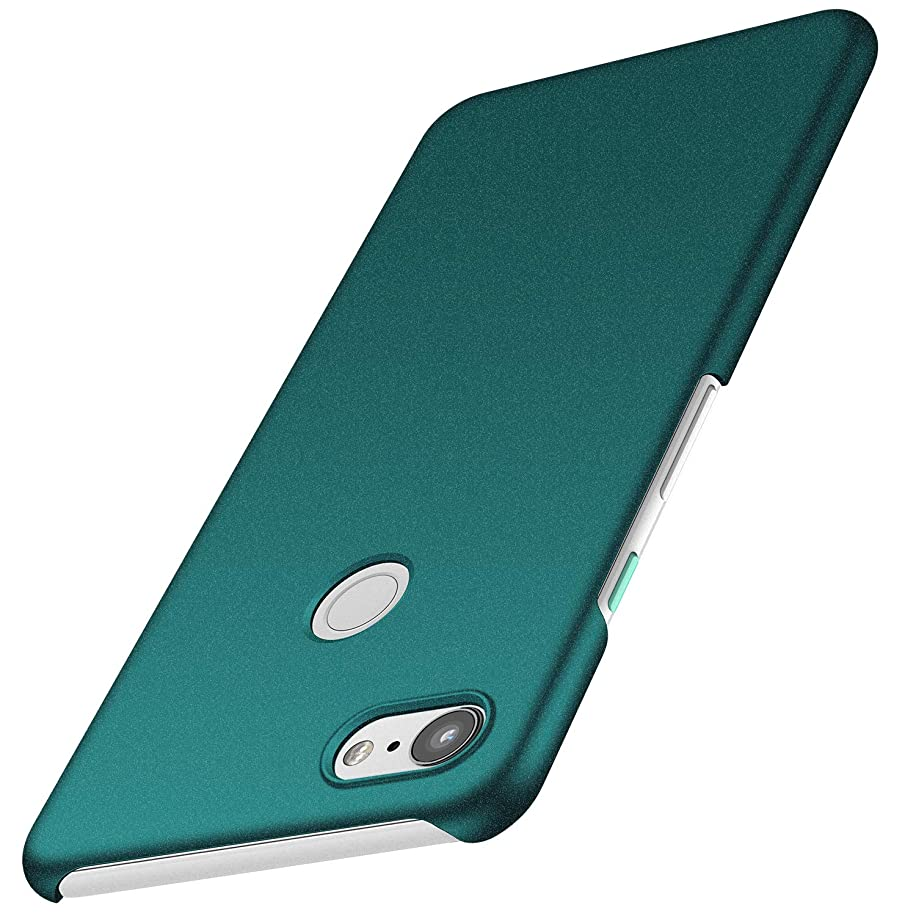 Kqimi Case for Google Pixel 3 [Ultra-Thin] Premium Material Slim Full Protection Cover for Google Pixel 3 (5.6 inch) 2018 (Gravel Green)
