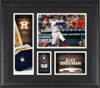 """Alex Bregman Houston Astros Framed 15"""" x 17"""" Player Collage with a Piece of Game-Used Baseball - Fanatics Authentic Certified"""