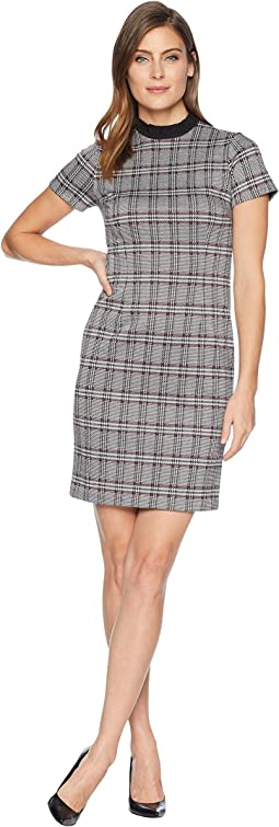 Cap Sleeve Plaid Dress