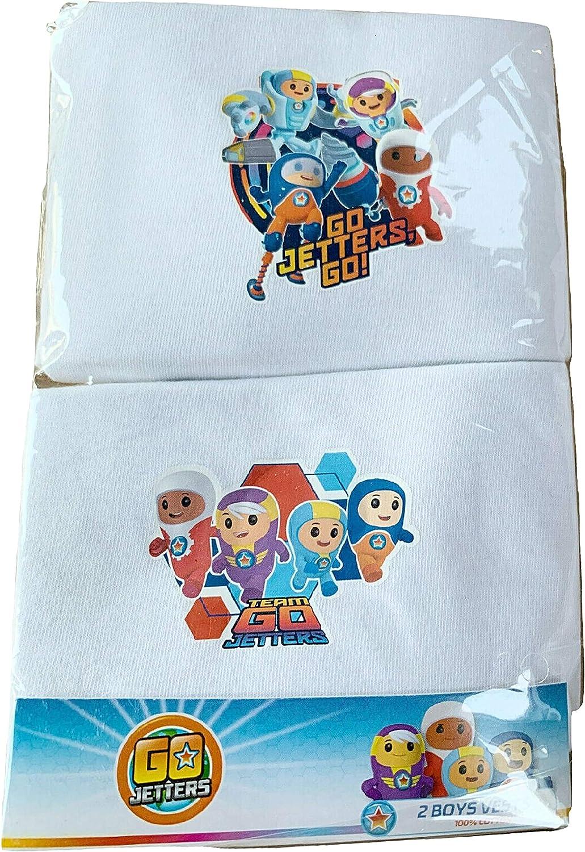 Boys Go Jetters Vest Sleeveless Character Underwear 2 Pack