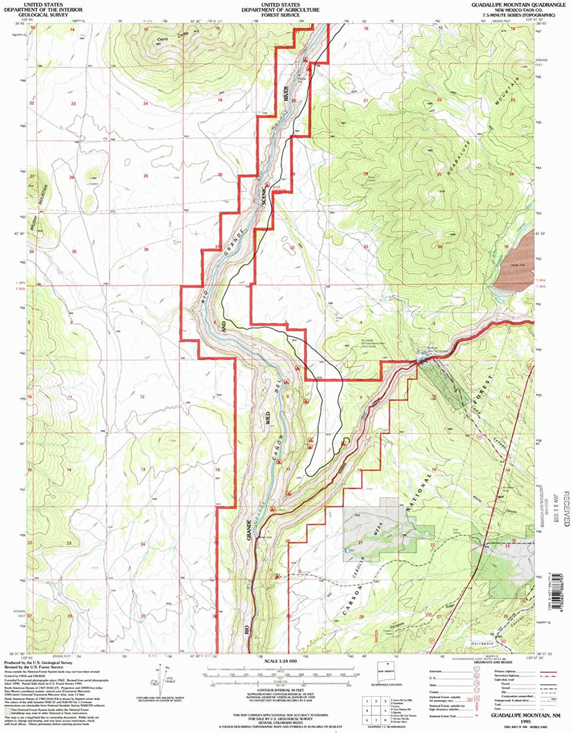 Guadalupe Mountain NM topo map, 1 24000 Scale, 7.5 X 7.5 Minute, Historical, 1995, Updated 1998, 26.9 x 22 in