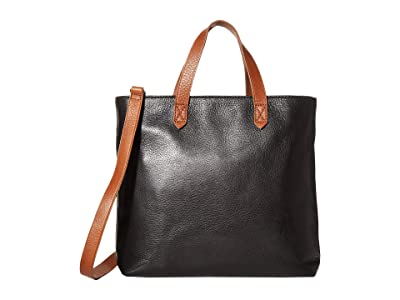 Madewell MW The Zip Top Transport Crossbody (True Black/Brown) Handbags