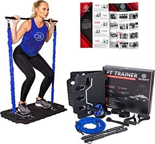BRAYFIT Portable Home Gym Equipment 10-in-1 Full Body Workout System Including Ab Roller Wheel, Elastic Resistance Bands, ...