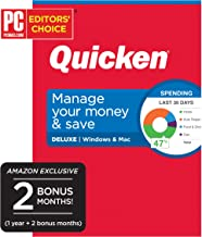 Quicken Deluxe Personal Finance 2020 - Manage Your Money and Save [Amazon Exclusive] [PC/Mac Disc]