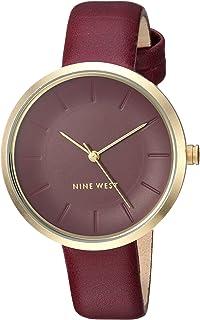 Nine West NW2112BYBY Reloj Análogo para Mujer, color Rojo