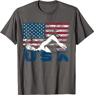 USA Swimming Shirt   Cute US Swim Aquatic Sport Athlete Gift