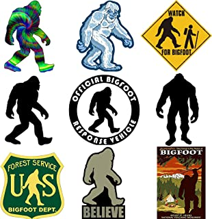 GTOTd Stickers for Forest Service Sasquatch Bigfoot. Decal Car 4x4'' Jeep Sticker Bumper Stickers Pack(9 Pcs)