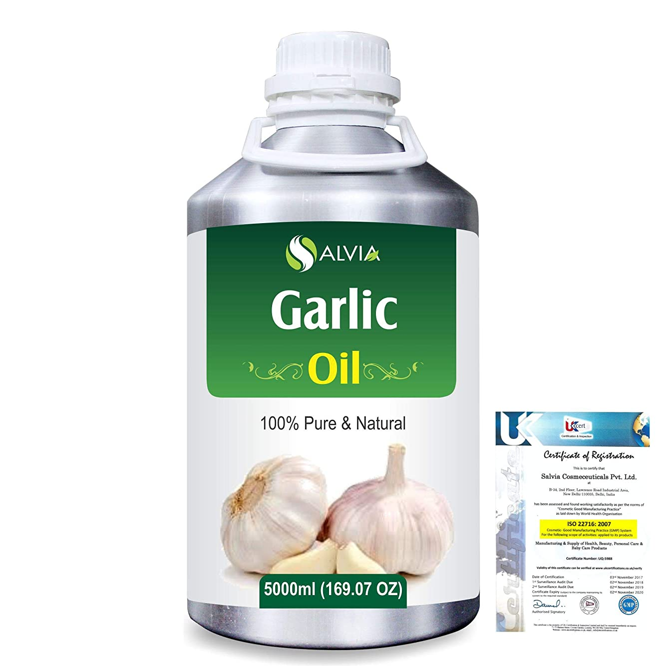 真実に公式ポルノGarlic (Allium Sativum) 100% Pure Natural Essential Oil 5000ml/169 fl.oz.