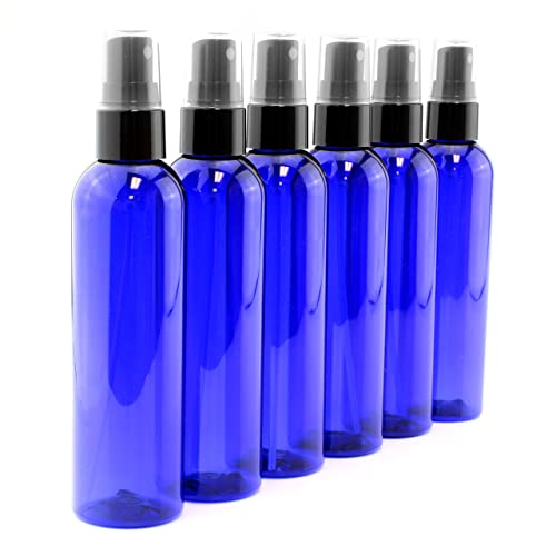 Premium Life Blue Glass Bottle with Spray 4 oz Unit