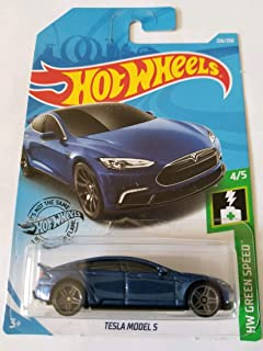 Hot Wheels 2019 Hw Green Speed Tesla Model S, Blue 226/250
