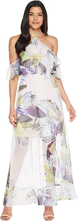 CeCe Danielle - Cold Shoulder Tropical Maxi