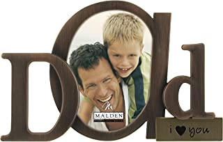 Malden International Designs Bronze Script Dad Picture Frame, 3.5x4.5, Bronze