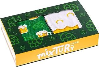ZOOKSY, Rainbow Socks - Hombre Mujer mixTURY Cerveza Calcetines Regalo - 2 Pares