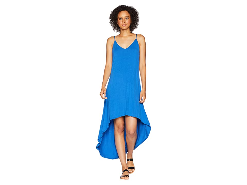 American Rose Rylan Spaghetti Strap High-Low Dress (Snorkel Blue) Women