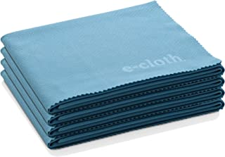 E-Cloth Glass & Polishing Microfiber Cleaning Cloth, Alaskan Blue, 4 Count