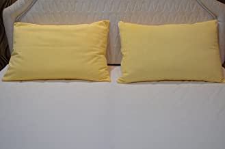 Trance Home Linen Waterproof and Dustproof Cotton Pillow Protector (18 x 28-inch , Ivory Yellow)