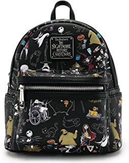 Disney Nightmare Before Christmas All Over Print Womens Double Strap Shoulder Bag Purse