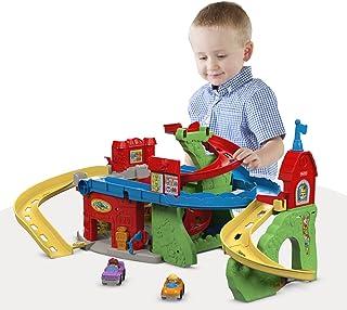 Ruta elevada para jugar sentado o parado, con muñecos de personas pequeñas, de Fisher-Price