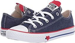 Converse kids chuck taylor all star ox little kid big kid obsidian ... 08f5fd935