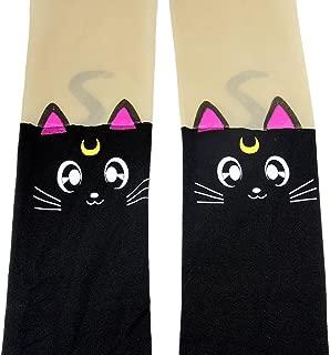 Anime Sailor Moon Luna Cat Cute Tight Printing Socks Cosplay Pantyhose Costume