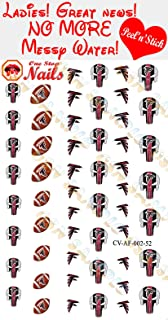 Falcons Clear Vinyl PEEL and STICK (NOT Waterslide) nail decals/stickers V2. Set of 52. (A1)