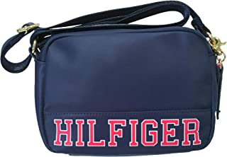 Tommy Hilfiger Signature Small Crossbody Adjustable Strap Handbag Navy Blue