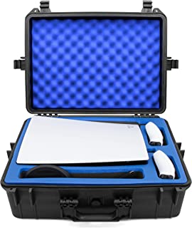 CASEMATIX Hard Shell Travel Case Compatible with PlayStation 5 Console, Controllers, Games and Accessories - Waterproof PS...