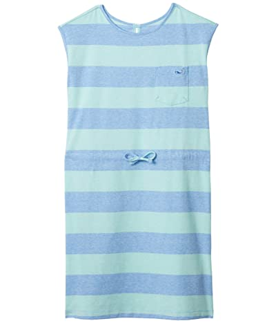 Vineyard Vines Kids Edgartown Striped T-Shirt Dress (Toddler/Little Kids/Big Kids) (Rugby Bimini Blue) Girl
