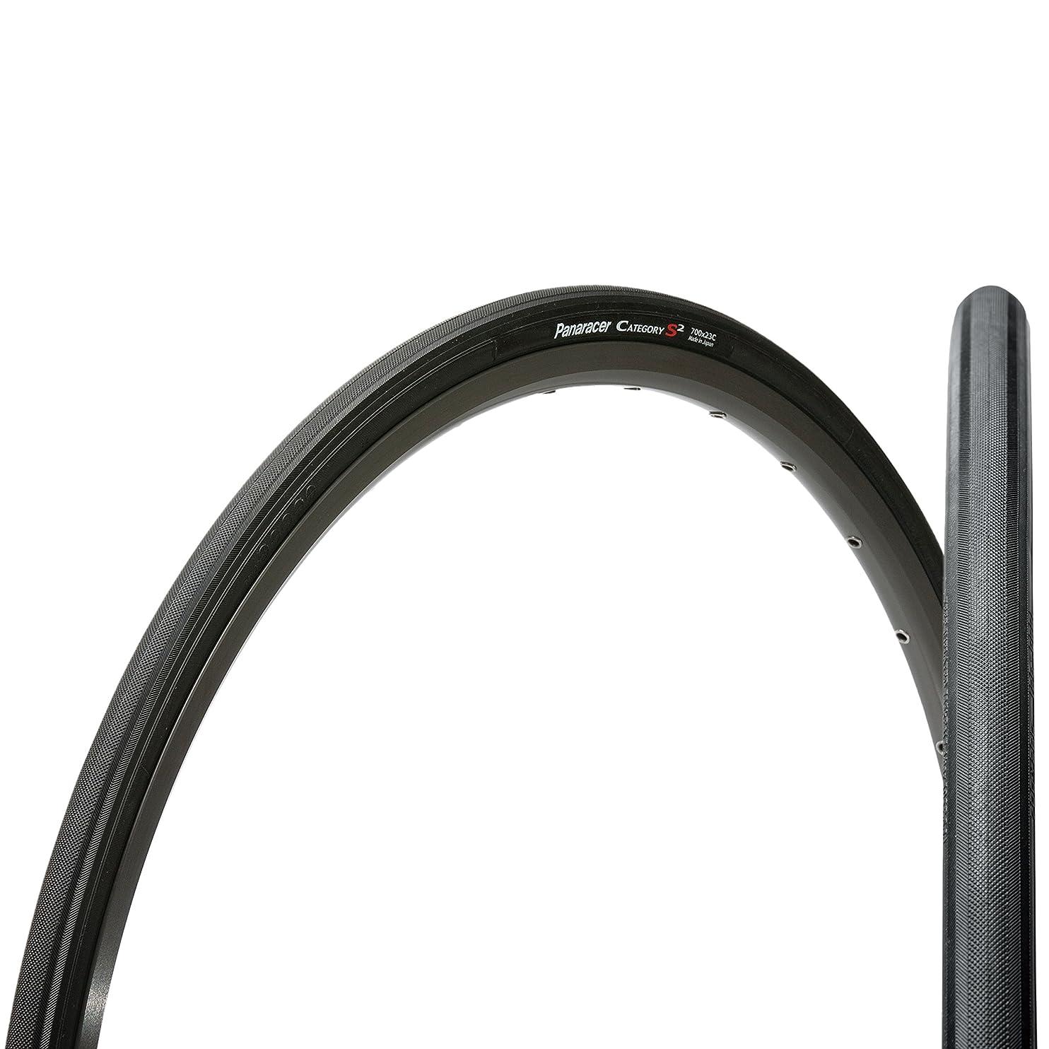 画面散らす支配的パナレーサー(Panaracer) クリンチャー タイヤ [700×23C] カテゴリー S2 F723-CATS-B2 ブラック ( ロードバイク クロスバイク / 通勤 街乗り ツーリング ロングライド用 )