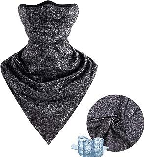 Face Mask for Summer, Bicycle Triangle Ice Silk Balaclava UV Protection Bandana Cycling Breathable Heandband Neck Gaiter Light-Gray