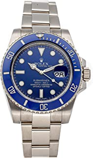 Submariner Mechanical (Automatic) Blue Dial Mens Watch 116619 (Certified Pre-Owned)