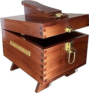 Maison Paul Coffret pour kit de nettoyage et de cirage de chaussures | boîte de rangement en bois pour crème, brosse, acce...