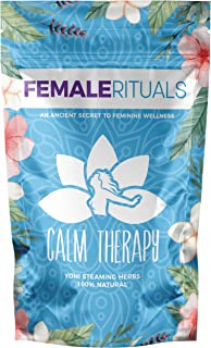 Female Rituals - Calm Therapy (2 Ounce) - Yoni Steam Herbs for Cleansing - Use with Our Yoni Steam Seat for...