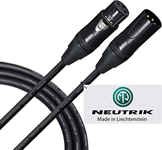 Cable de micrófono de 2 metros – Quad Balanceado hecho por WORLDS BEST CABLES – utilizando Mogami 2534 alambre y Neutrik NC3MXX-B macho y NC3FXX-B hembra XLR enchufes.