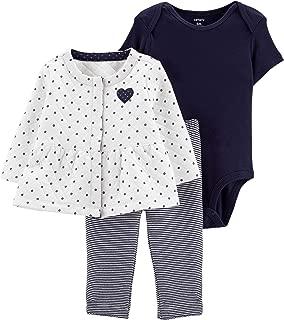Carter's Baby Girls 3 Piece Quilted little jacket Set (Heart)