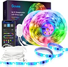 Dreamcolor 32.8FT LED Strip Lights RGBIC, Govee WiFi Wireless Smart Phone Controlled Led Light Strip 5050 LED Lights Sync ...