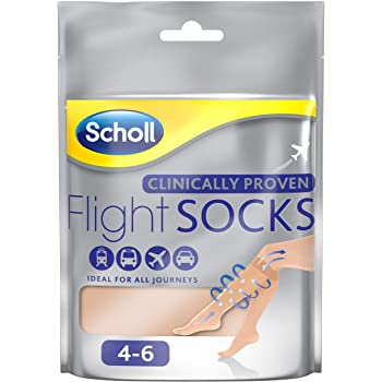 Scholl Sheer Flight Socks, Size 4-6, 2 Pairs