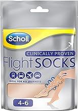 Scholl Sheer Flight Socks, Size 4-6, 2 Pairs