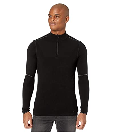 Smartwool Intraknit Merino 250 Thermal 1/4 Zip (Black) Men