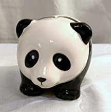 NEW BLACK & WHITE PANDA BEAR PIGGY BANK COIN MONEY HOLDER ADORABLE