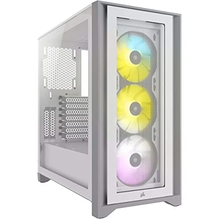Corsair iCUE 4000X RGB Mid-Tower ATX PC Case - White (CC-9011205-WW)