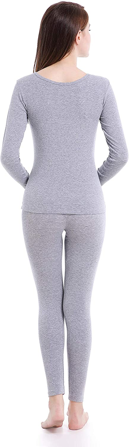 Ferrieswheel Story Womens Thermal Underwear Set Crew Neck Breathable Base Layer Thin Long Johns