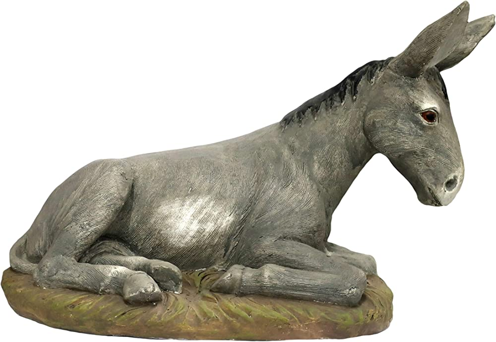 Ferrari & arrighetti statue presepe: asino linea martino landi 50 cm 2450NAAS