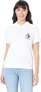 TOMMY HILFIGER Women's Crest Embroidery Zip Polo