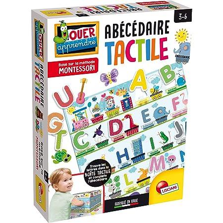 Lisciani L'ALPHABET Jeux EDUCATIF – Montessori-L'Alphabet Tactile – FR72446, Multicolore 18,8 x 25,5 x 5,7