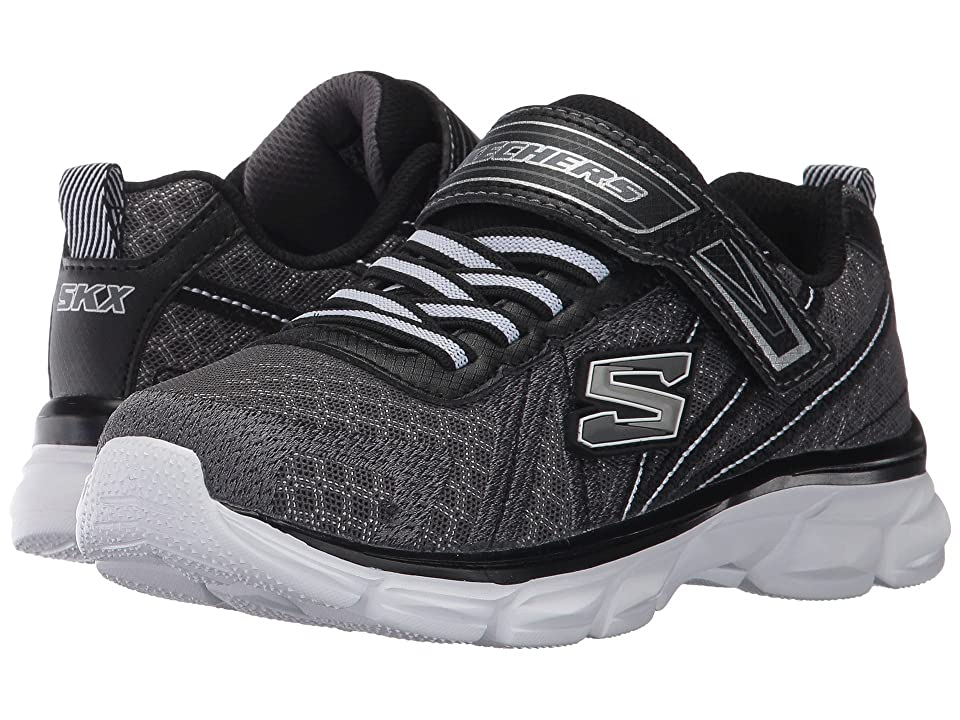 SKECHERS KIDS Advance (Little Kid/Big Kid) (Charcoal/Black) Boy