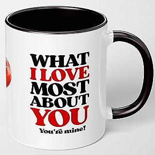Birthday Gifts For Women, Men - Anniversary Gift For Wife Husband. Sweet Fun Coffee Mug For Boyfriend Girlfriend. What I L...