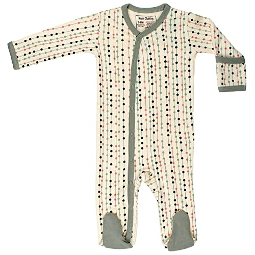 Maple Clothing Organic Cotton Baby Clothes Sleepwear Long Sleeve Footie GOTS Certified