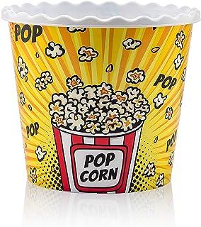 Pd-HomeReusable Popcorn Box 2,2 lt' 77oz Movie Night Set. BPA Free